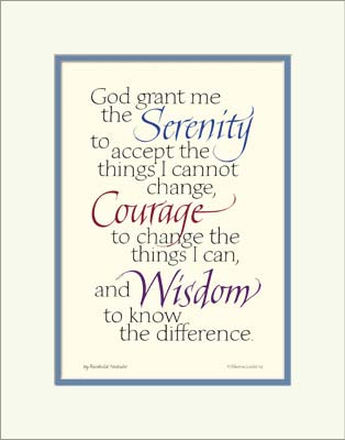 This is an image of Printable Serenity Prayer intended for version