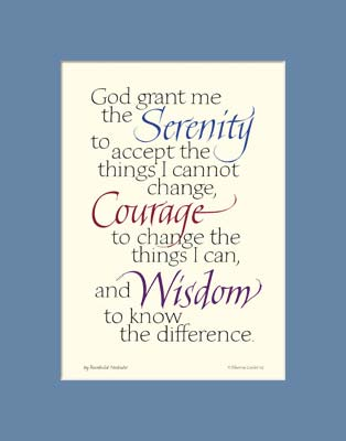 graphic about Printable Serenity Prayer named Serenity Prayer - Serenity Prayer 11x14\u201d - Serenity Prayer Print