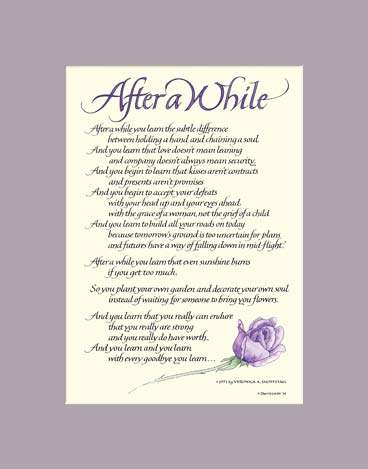 After A While After A While By Veronica A Shoffstall Art