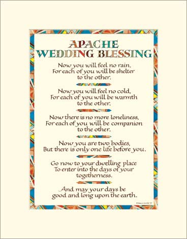 Apache Wedding Blessing Wedding Blessing Art Print