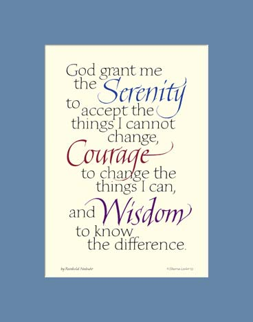 graphic regarding Free Printable Serenity Prayer known as Serenity Prayer - AA Serenity Prayer - Serenity Prayer Print